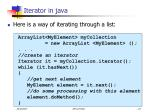 iterator in java