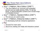 the three main java editions