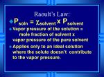 raoult s law