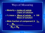 ways of measuring