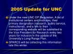 2005 update for unc