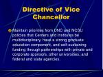 directive of vice chancellor