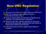 new unc regulation