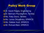policy work group