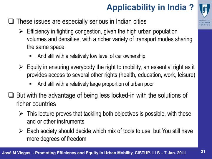 Applicability in India ?
