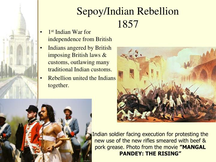 Sepoy indian rebellion 1857