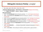 bibliografia literatury polskiej przegl d
