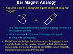 bar magnet analogy
