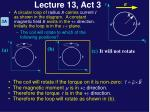 lecture 13 act 31