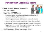 partner with local ip c teams