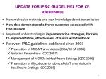 update for ip c guidelines for cf rationale