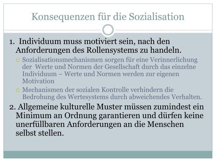 Konsequenzen für die Sozialisation