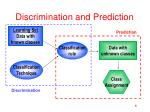 discrimination and prediction