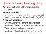 instance based learning ibl
