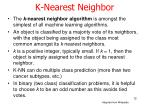 k nearest neighbor