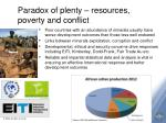 paradox of plenty resources poverty and conflict