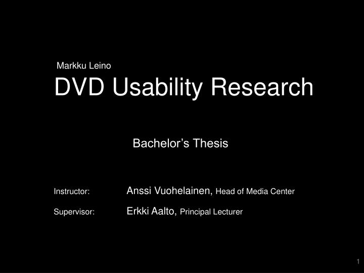 dvd usability research n.