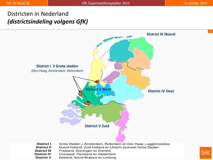 Districten in Nederland