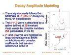 decay amplitude modeling