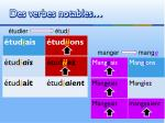 des verbes notables