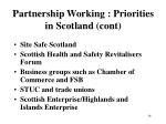 partnership working priorities in scotland cont