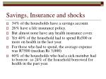 savings insurance and shocks