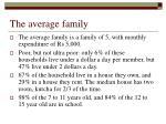 the average family