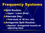 frequency systems