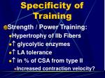 specificity of training2