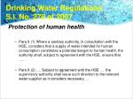 drinking water regulations s i no 278 of 2007