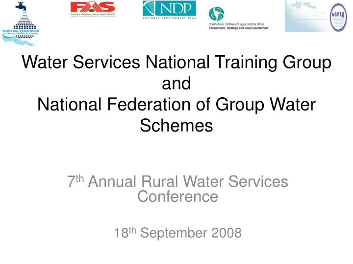 water services national training group and national federation of group water schemes n.