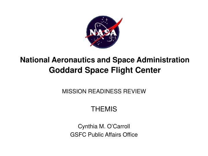 national aeronautics and space administration goddard space flight center n.