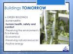 buildings tomorrow