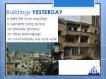 buildings yesterday