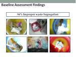 baseline assessment findings