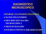 diagn stico microsc pico