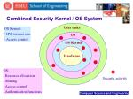 combined security kernel os system