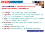 security kernel responsible for enforcing security mechanisms of the entire os