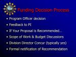 funding decision process