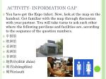 activity information gap