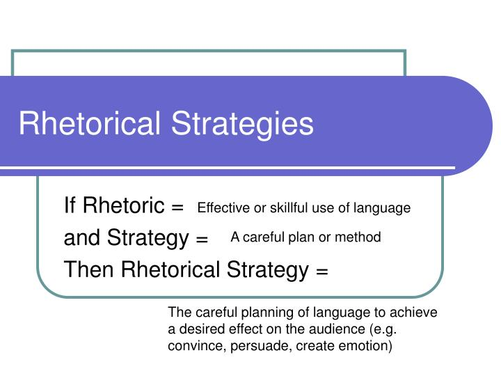 rhetorical strategies n.
