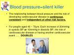 blood pressure silent killer