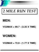 2 mile run test
