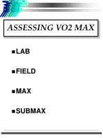 assessing vo2 max1