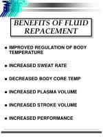 benefits of fluid repacement