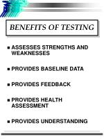 benefits of testing