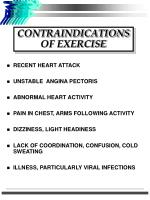 contraindications of exercise
