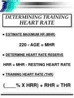 determining training heart rate