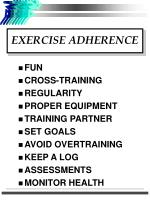 exercise adherence
