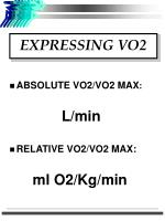 expressing vo2